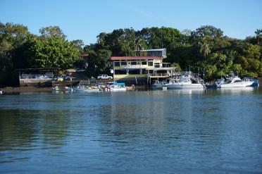 A fishing lodge