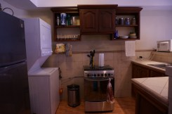 This is my kitchen. Not much maybe, but I love it! I have a gas range with an oven and 4 burners. Amazing!!!