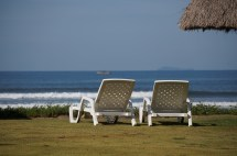 Lounge chairs abound on which to nap or enjoy the views...