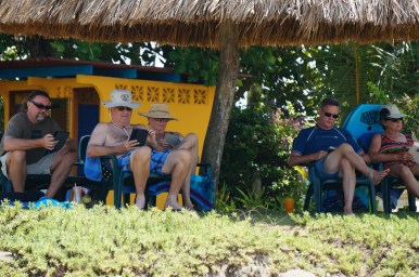 Reading time under a palapa