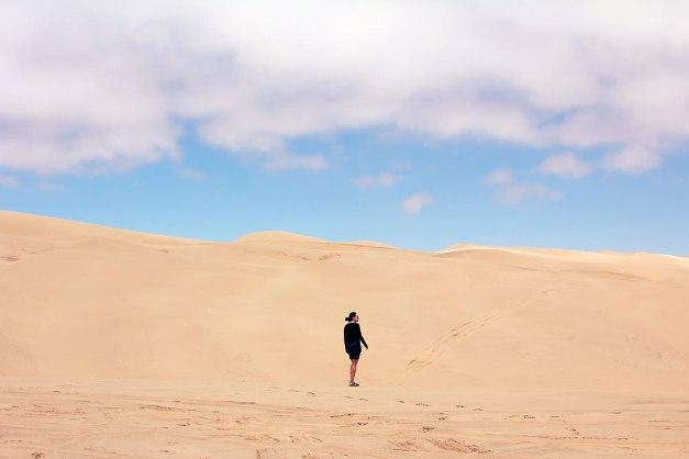 michelle on dunes