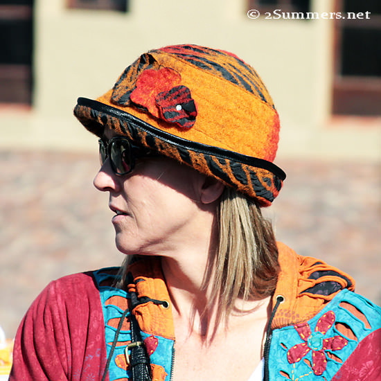 Lady orange hat copy