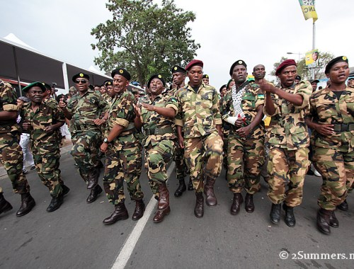 MK marching in Soweto on the weekend of Nelson Mandela's death