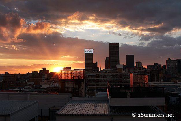 Skyline late sunset