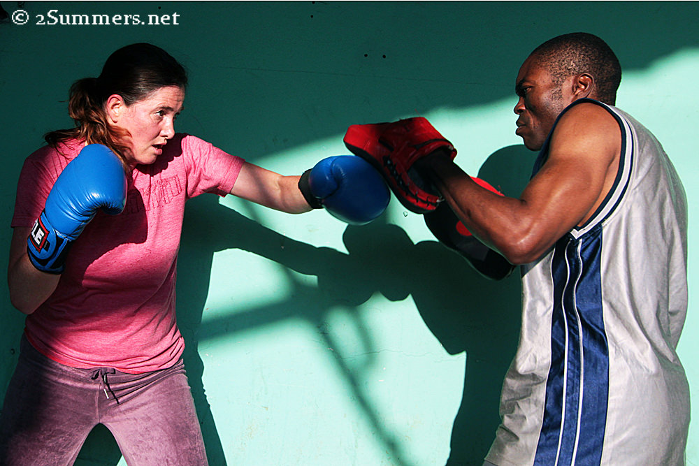 James and Henrike at Hillbrow Boxing Club