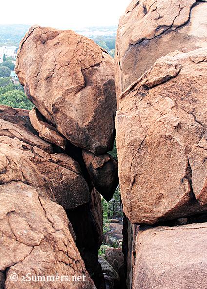 Lonehill rock crevasse