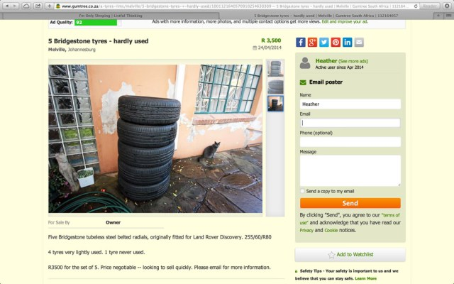 Gumtree screenshot