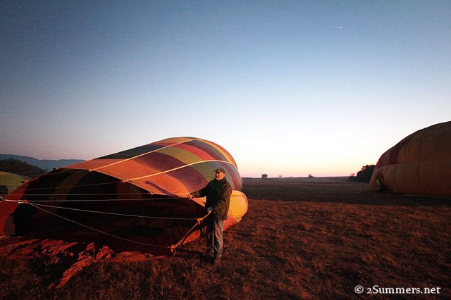 Inflating balloon early