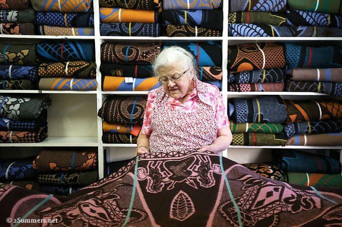 Gertie de Jager of the Blanket Shop in Clarens