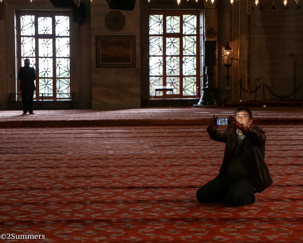 Blue mosque guy