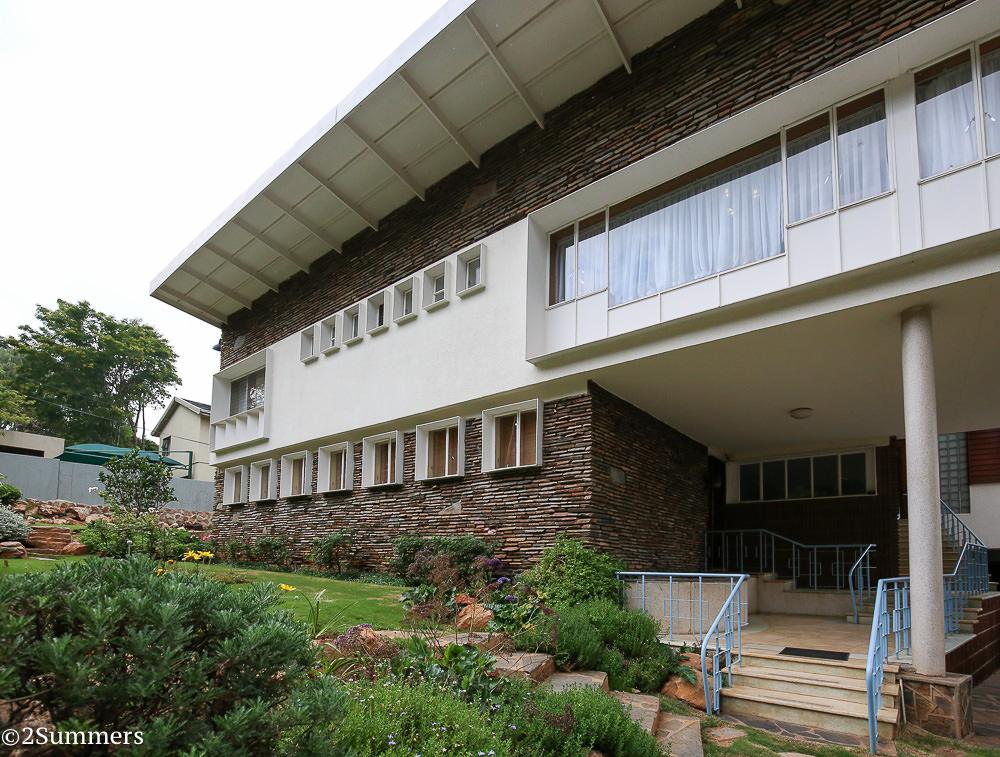 Outside the L. Ron Hubbard House, Johannesburg