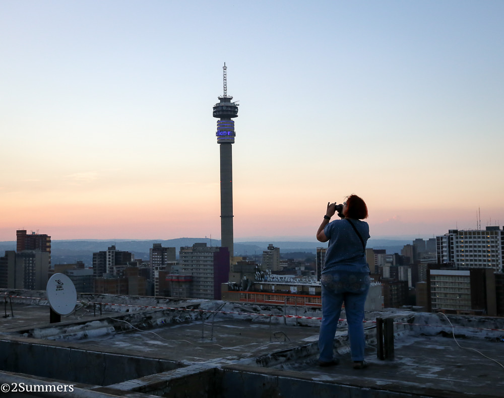 Fiver photographs Hillbrow from the roof of the Tygerberg.