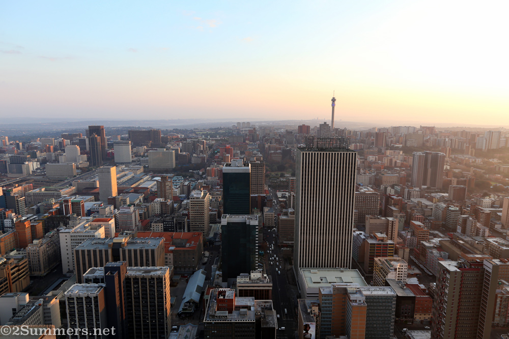 Joburg skyline from the roof of the Carlton Centre