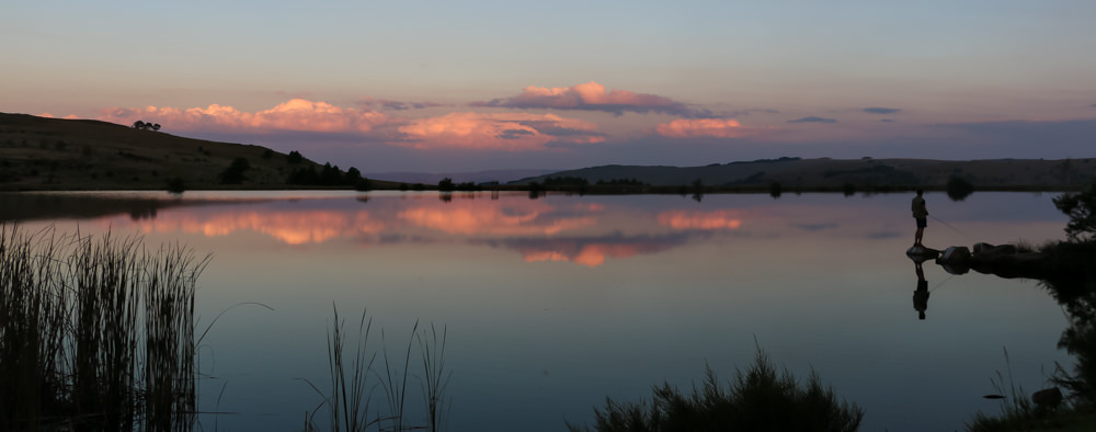 Sunset Walkersons dam in Dullstroom