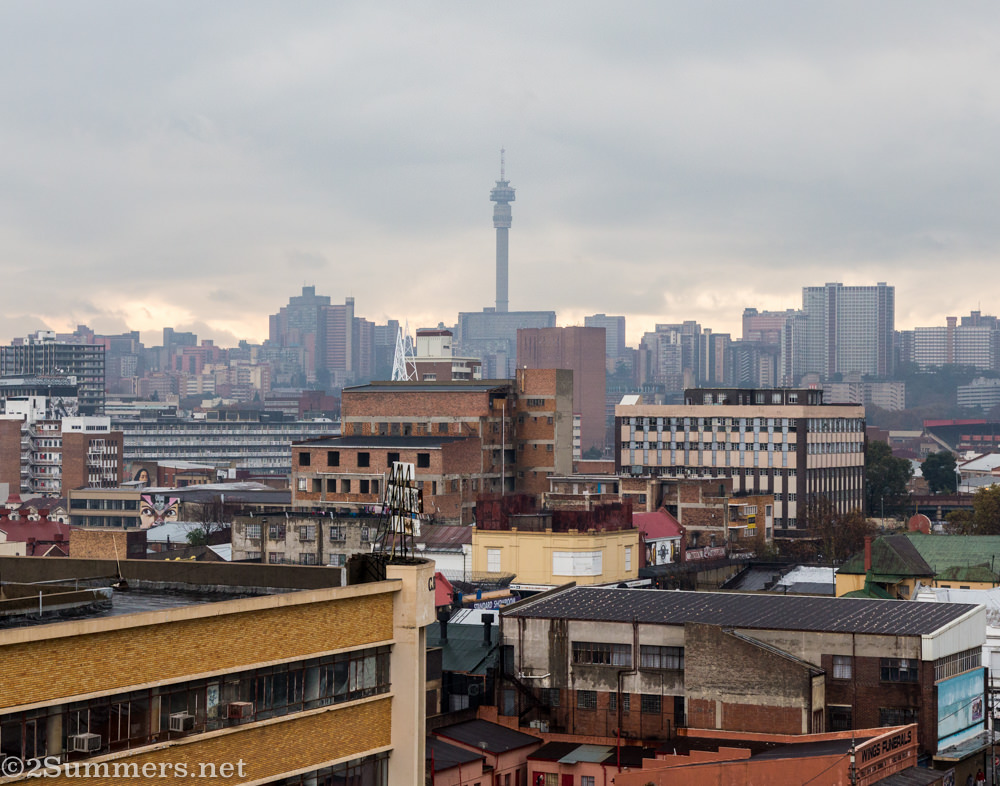 View from Bjala Square toward Hillbrow.