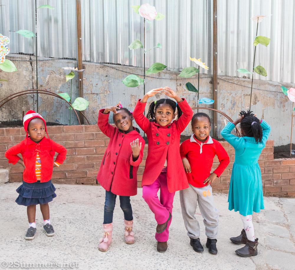 Kids playing at Joziburg Lane