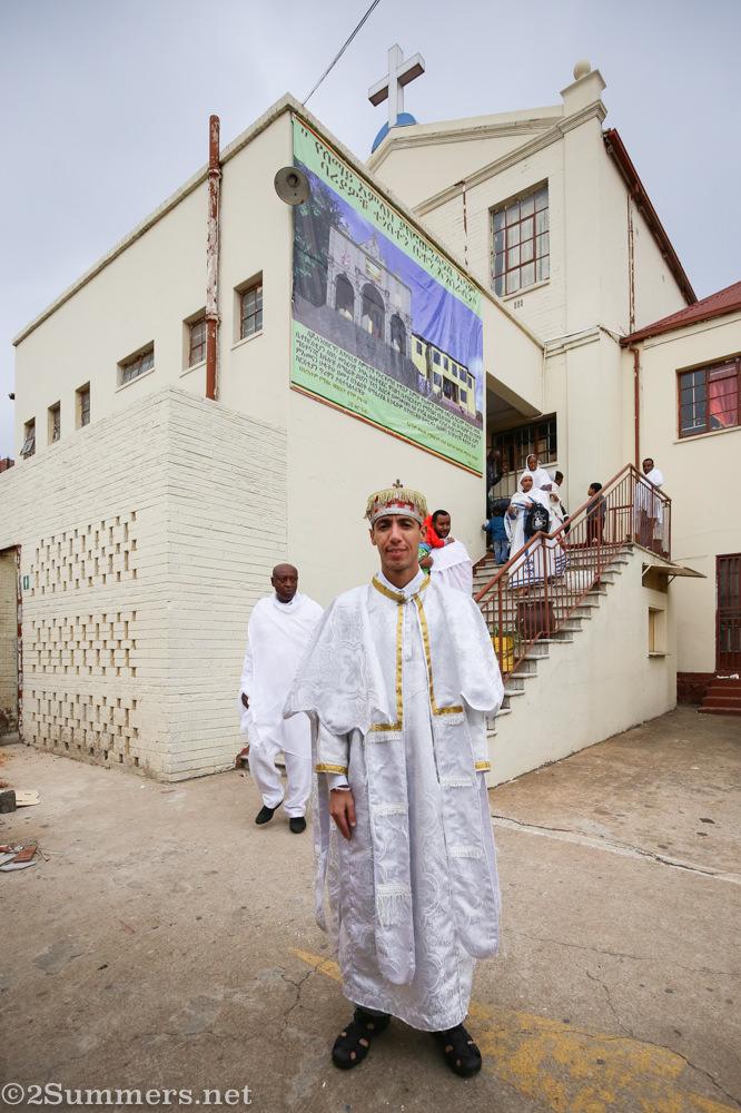 Marvin, deacon at Ethiopian Tewahedo church
