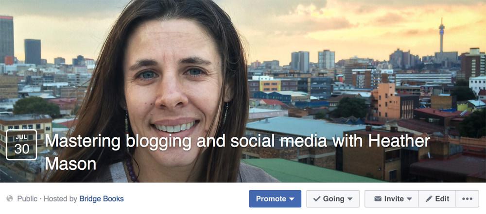 Heather blogging course Facebook