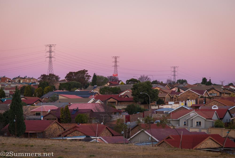 Sunset in Alexandra Township