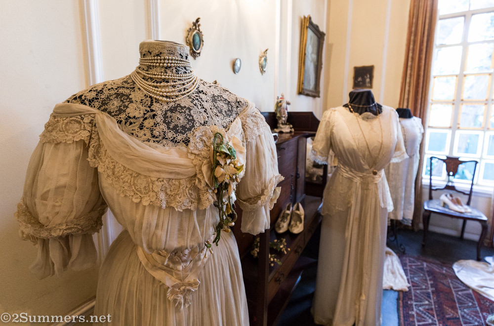 Victorian wedding dress at Lindfield House