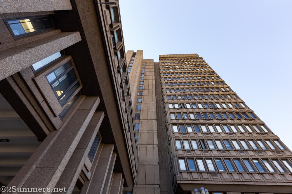 Brutalist architecture at Braamfontein Civic Centre