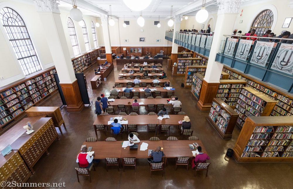 People studying at Joburg library
