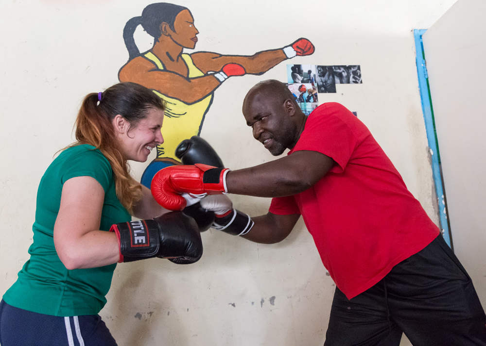 Heather and George at Hillbrow Boxing Club