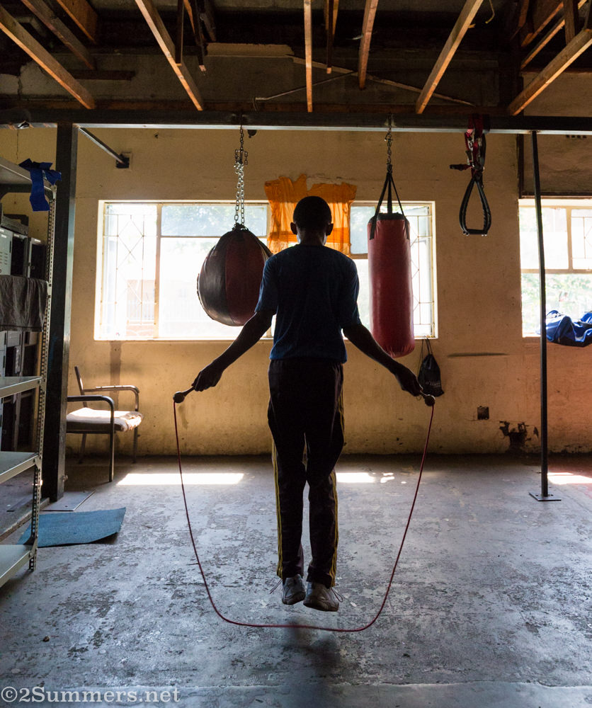 Skipping rope in the Hillbrow Boxing Club