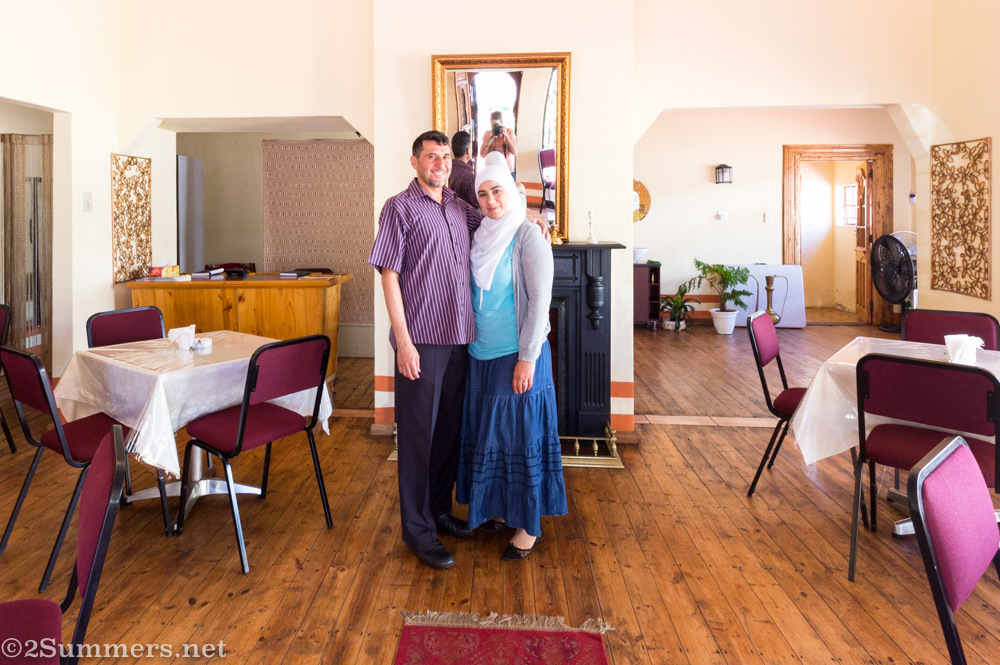 Safaa and Yasir, Syrian refugees and the owners of Jasmine Syrian Cuisine in Benoni