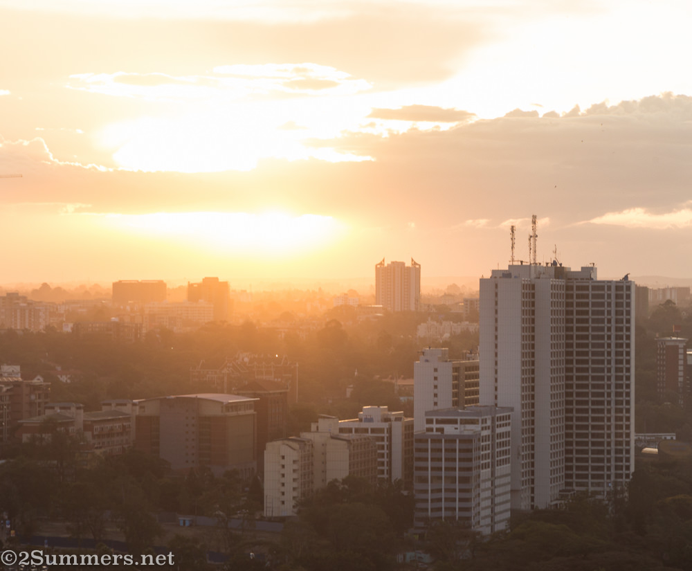 Sunset from KICC