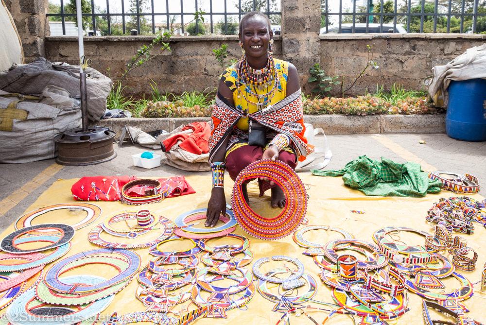 Maasai jewelry vendor