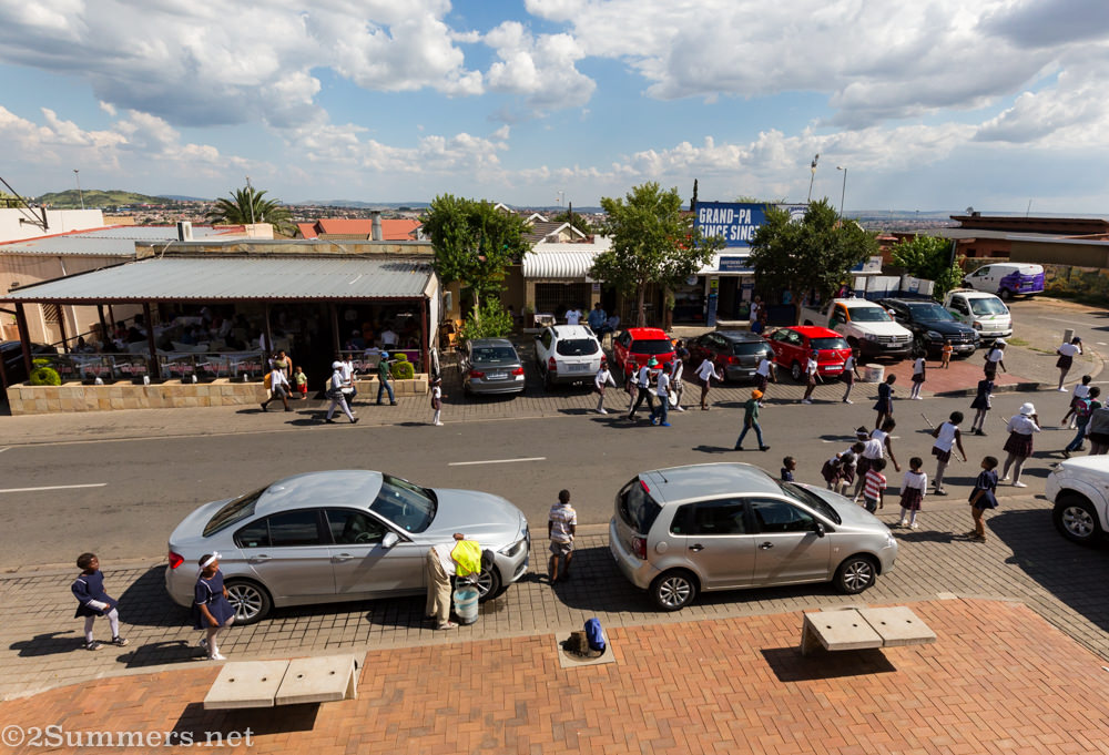 View of Vilakazi Street from Kofi Afrika