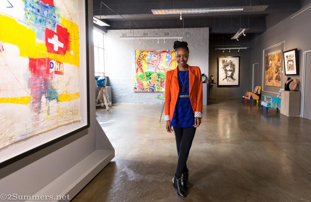 Nonhlanhla Mahlangu in Art Eye gallery