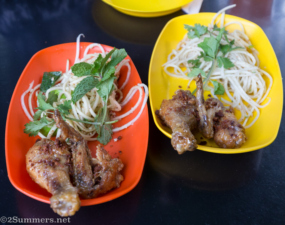 Chicken wings and thighs at Glory
