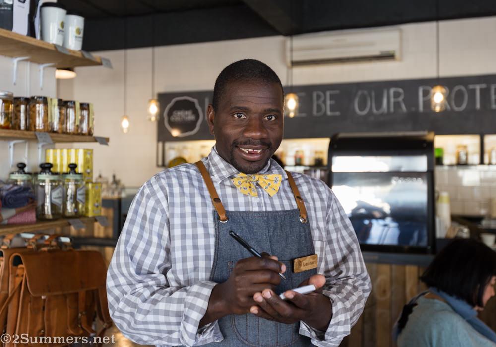 Leonard, server at Grounded
