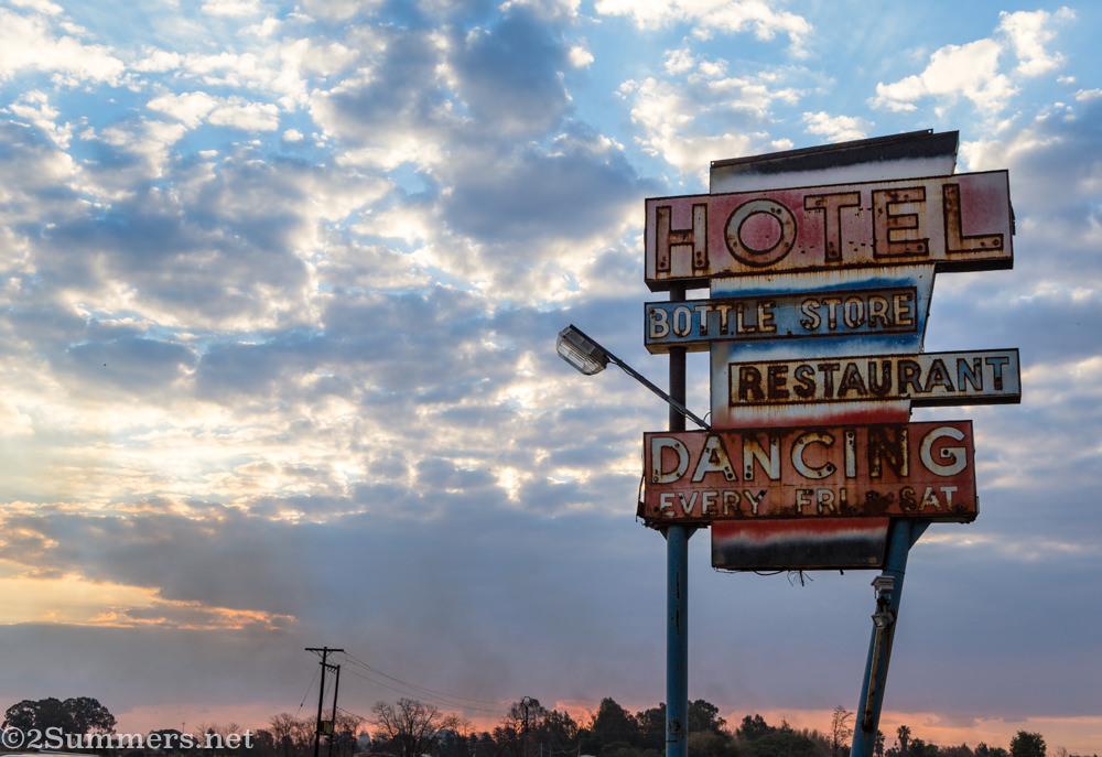 Bapsfontein Hotel neon sign