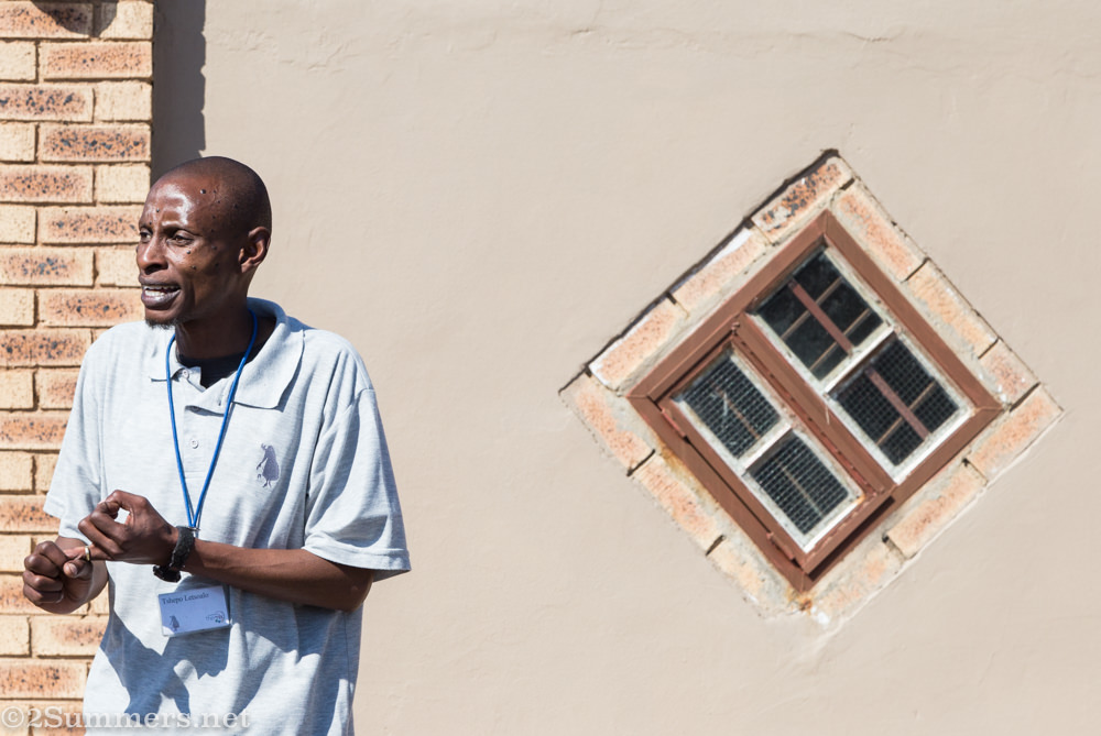 Tshepo Letsoalo, guide for Sophiatown The Mix