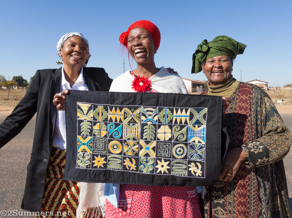 Mama Emily with Nomvula and Mahlapane