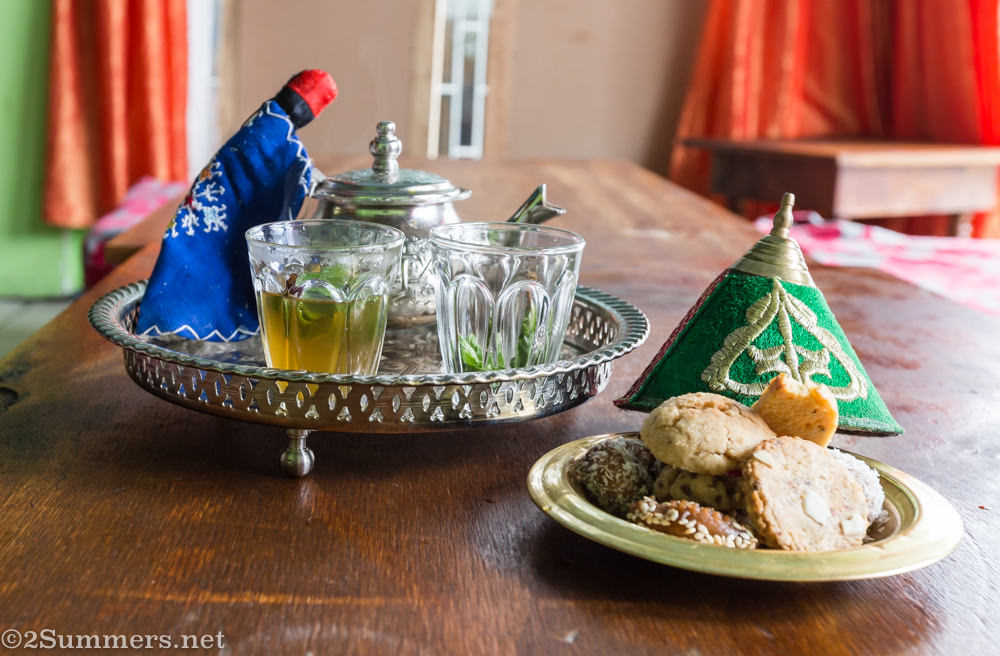 Mint tea at Andalousse