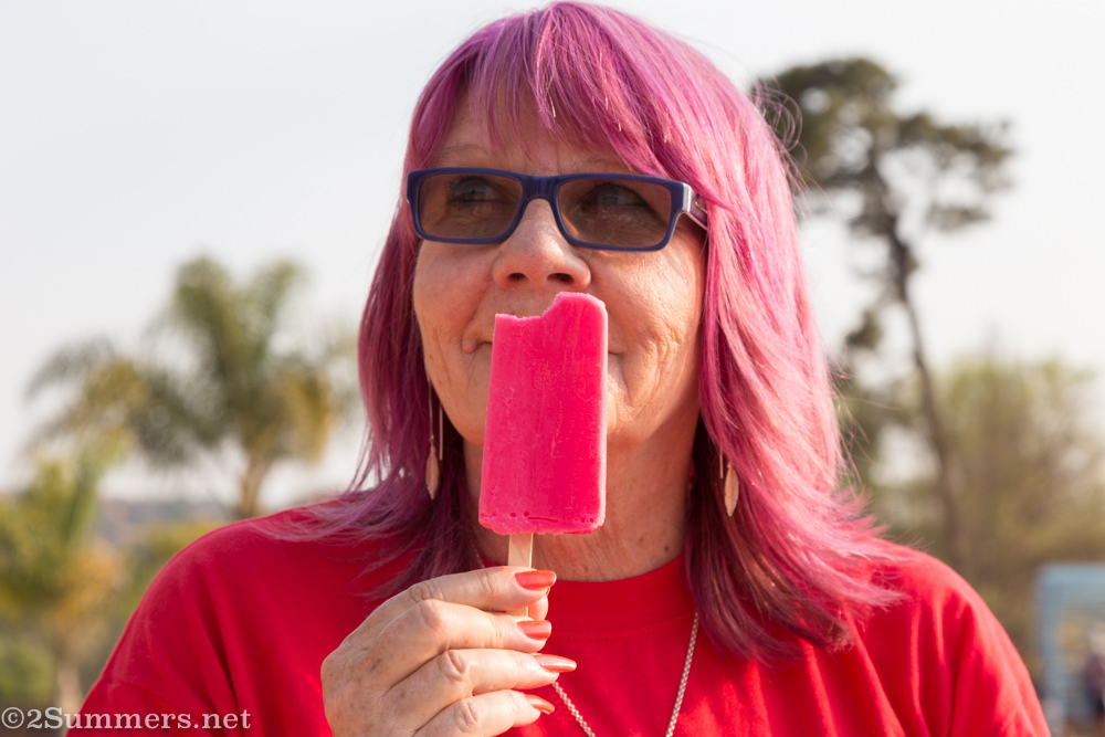 Gail with popsicle