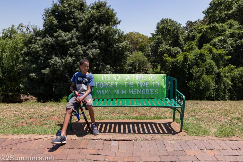 Park bench in Rhodes Park