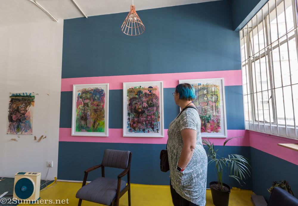 Fiver in Vusi Beauchamp's studio