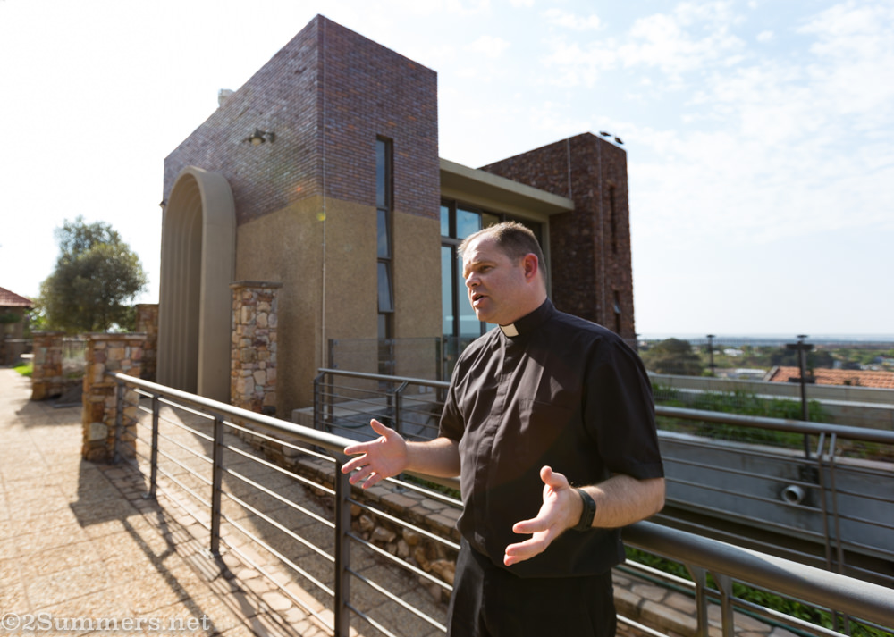 Father Russell at the Jesuit Institute South Africa