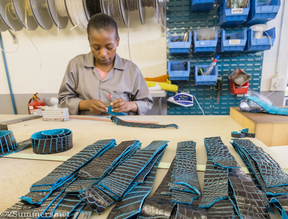 Crocodile leather becoming belts
