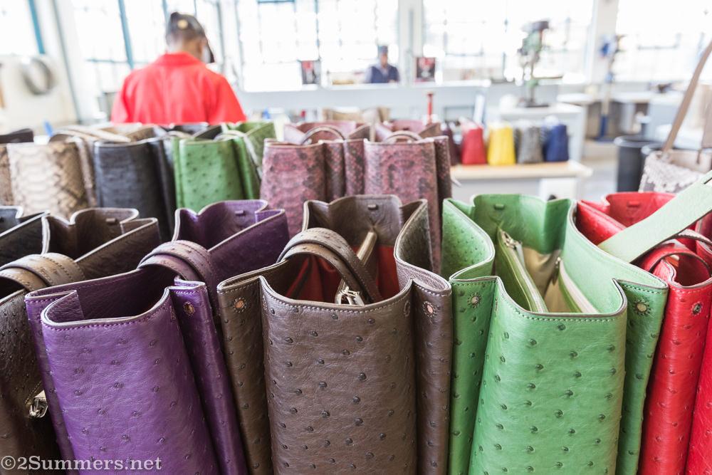 Colorful handbags at Via La Moda