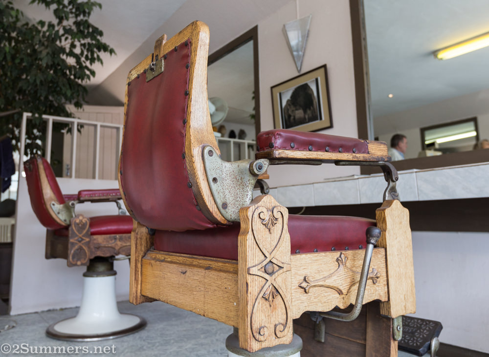 Old school barber chair at Scala Barber