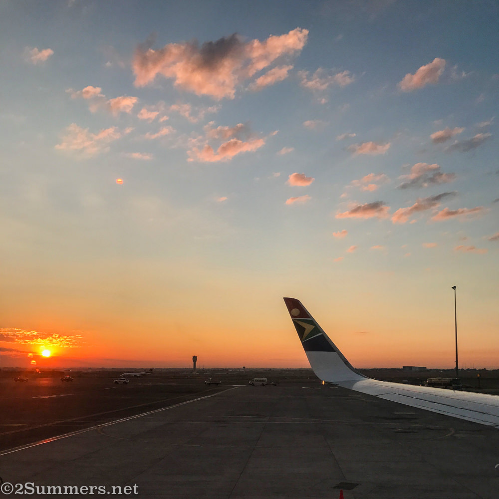 Sunrise at O.R. Tambo, one of Joburg's two major airports