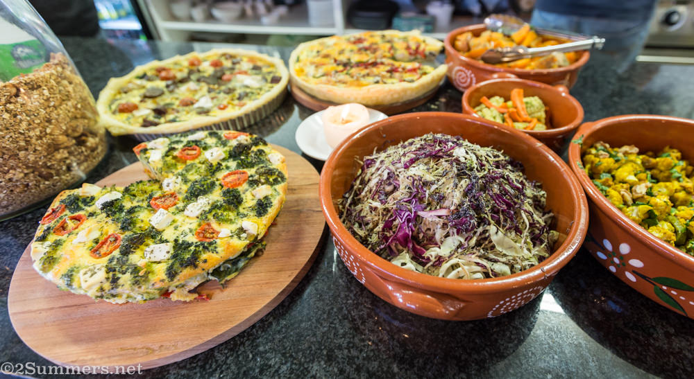 Quiches and salads at Reserved