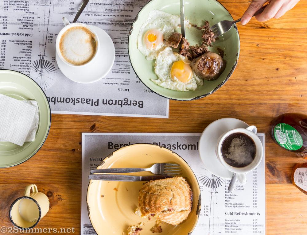 Bergbron Plaaskombuis breakfast