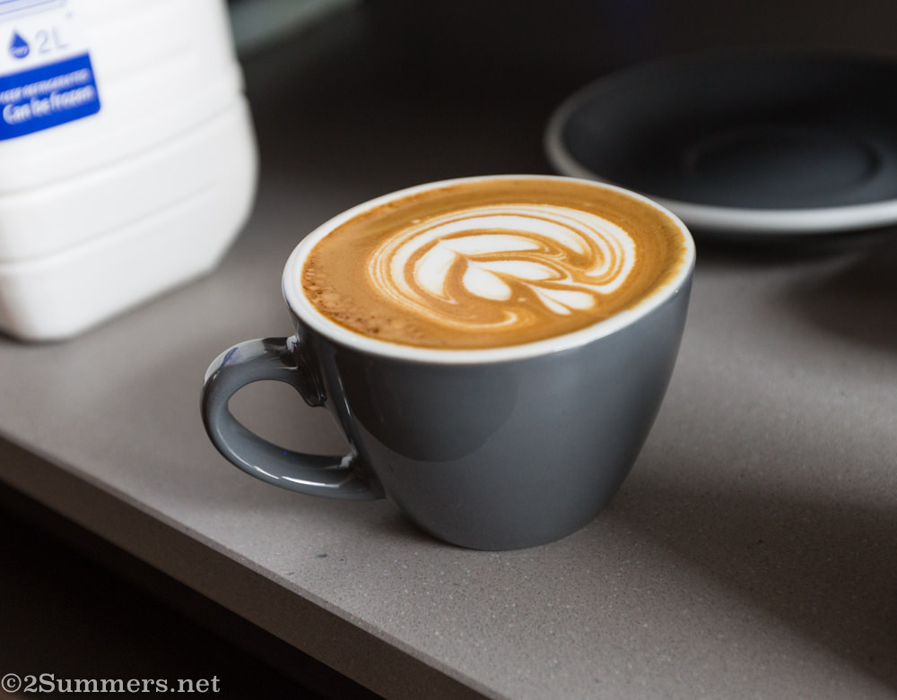 Coffee waiting to be served at Thirdspace
